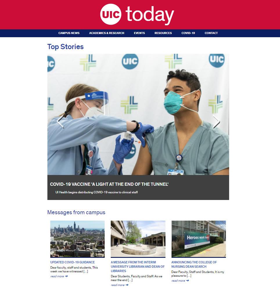 cover of recent U I C news